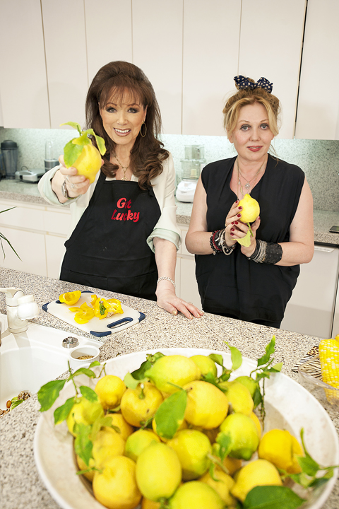 Jackie Collins & Chrissy Iley