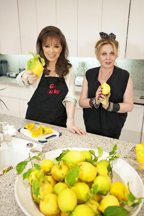 Jackie Collins & Chrissy Iley