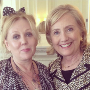 Chrissy Iley and Hillary Clinton