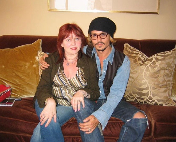 Chrissy Iley and Johnny Depp