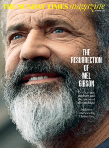 Mel Gibson Sunday Times Magazine cover