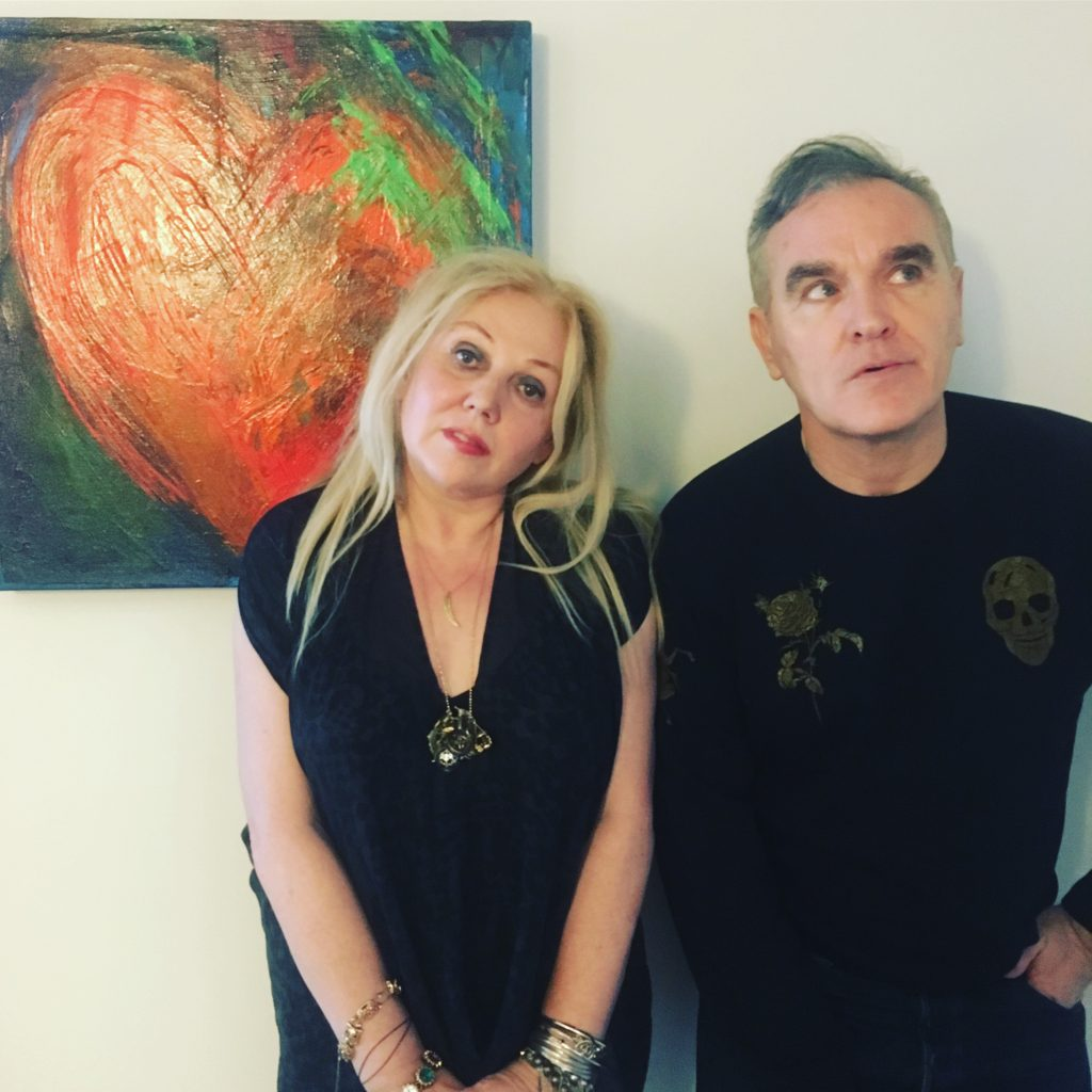 Chrissy Iley and Morrissey, November 2017
