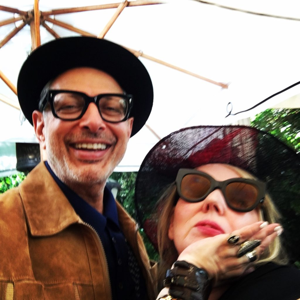 Jeff Goldblum and Chrissy Iley