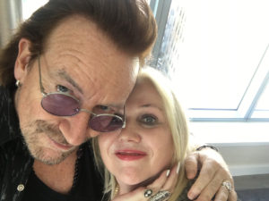 Bono and Chrissy Iley