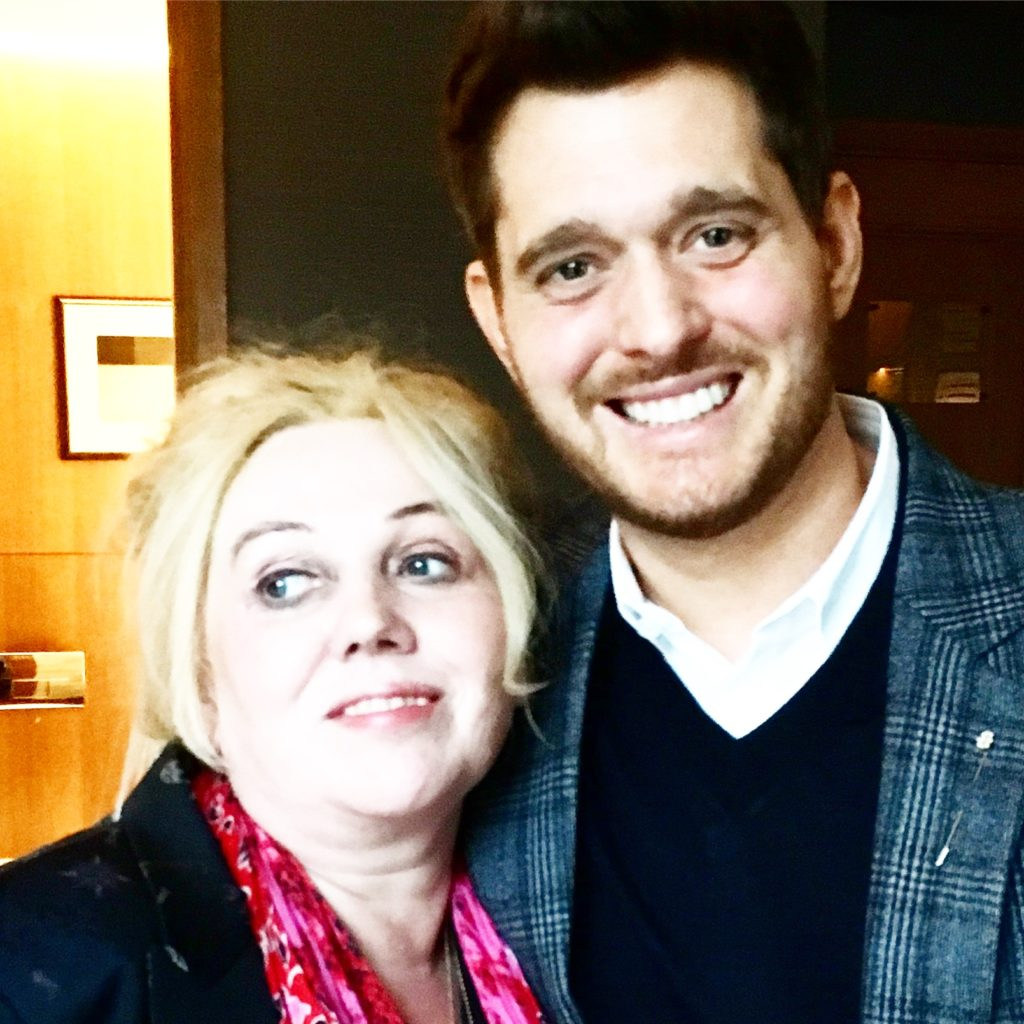 Chrissy Iley and Michael Buble