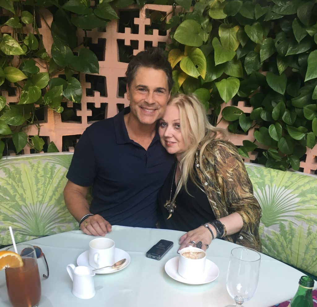 Rob Lowe and Chrissy Iley