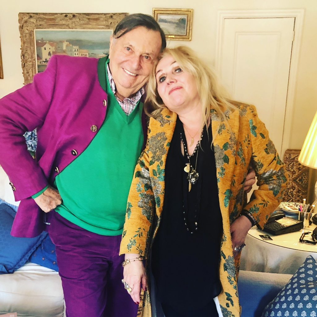 Barry Humphries and Chrissy Iley