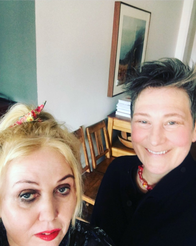 Chrissy Iley and k.d. Lang