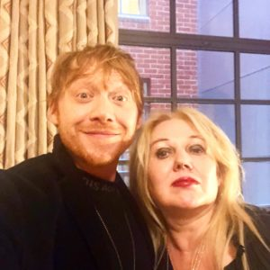 Rupert Grint and Chrissy Iley